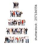 workforce concept teamwork... | Shutterstock . vector #257136556