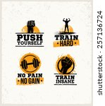 workout gym sport and fitness... | Shutterstock .eps vector #257136724