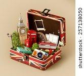 Постер, плакат: Opened box with british