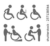 disability people pictograms... | Shutterstock .eps vector #257138566