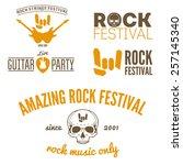 set of vintage logo  badge ... | Shutterstock .eps vector #257145340