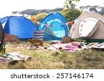 empty campsite at music... | Shutterstock . vector #257146174