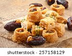 eastern sweets | Shutterstock . vector #257158129