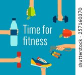 fitness concept flat isolated