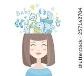 Vector Cartoon Smiling Woman...