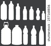 vector white silhouettes of... | Shutterstock .eps vector #257168836