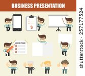 set of business man presentation | Shutterstock .eps vector #257177524