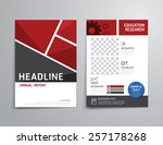 vector brochure  flyer ... | Shutterstock .eps vector #257178268