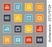 electronic appliances web icons | Shutterstock .eps vector #257179729
