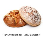 Fresh Bread Isolated On White...