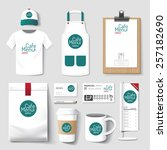vector restaurant cafe set... | Shutterstock .eps vector #257182690