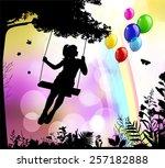 childhood | Shutterstock .eps vector #257182888