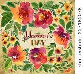 vector illustration for women's ... | Shutterstock .eps vector #257185078
