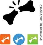 human broken bone icon | Shutterstock .eps vector #257190460