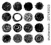 big set  a collection of round... | Shutterstock .eps vector #257192023