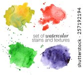Colorful Watercolor Stains And...