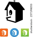 birdhouse icon | Shutterstock .eps vector #257198053