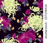 seamless floral pattern with... | Shutterstock .eps vector #257198410