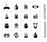 set icons of cables and wires... | Shutterstock .eps vector #257199079