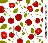 seamless pattern of hand...   Shutterstock .eps vector #257200729