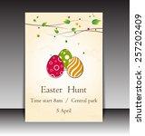 easter day flyer  brochure ... | Shutterstock .eps vector #257202409
