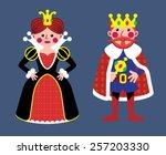 queen  king | Shutterstock .eps vector #257203330