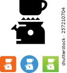 camping stove with cup. vector... | Shutterstock .eps vector #257210704