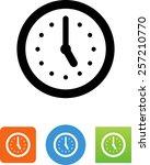 clock icon | Shutterstock .eps vector #257210770