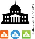 government building icon | Shutterstock .eps vector #257212819