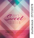 modern and classy sweet sixteen ... | Shutterstock .eps vector #257218378