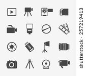 camera and photo icons.... | Shutterstock .eps vector #257219413