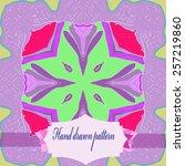 circular pattern of floral...   Shutterstock .eps vector #257219860