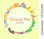 chiang mai round background... | Shutterstock .eps vector #257221363