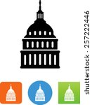capital building with dome icon | Shutterstock .eps vector #257222446