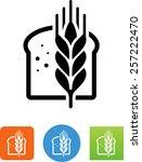 bread with grain symbol for... | Shutterstock .eps vector #257222470