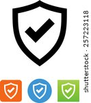 shield with checkmark symbol... | Shutterstock .eps vector #257223118