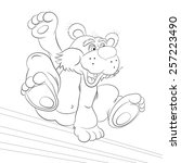 Cartoon Bear   Tracer In The...