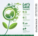 ecology concept. save world... | Shutterstock .eps vector #257225530