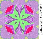 circular seamless pattern of...   Shutterstock . vector #257225890