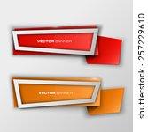 origami paper infographic... | Shutterstock .eps vector #257229610
