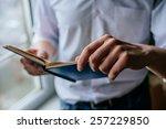 man reading. book in his hands. | Shutterstock . vector #257229850