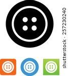clothes button icon | Shutterstock .eps vector #257230240