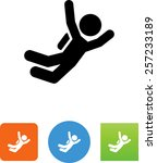 skydiver icon | Shutterstock .eps vector #257233189