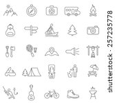 camping  line icons set.vector | Shutterstock .eps vector #257235778