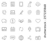 communication line icons set... | Shutterstock .eps vector #257235868