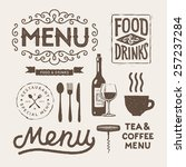 vintage typographical elements... | Shutterstock .eps vector #257237284