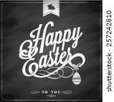 happy easter typographical... | Shutterstock .eps vector #257242810