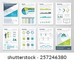 green and blue modern... | Shutterstock .eps vector #257246380