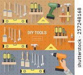 diy tools for carpentry and... | Shutterstock .eps vector #257248168