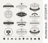 retro vintage insignias or... | Shutterstock .eps vector #257253973